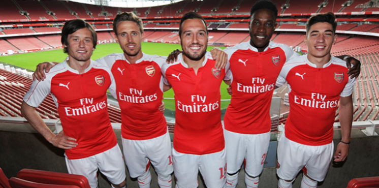 The Home kit, originally produced on Arsenal.com.