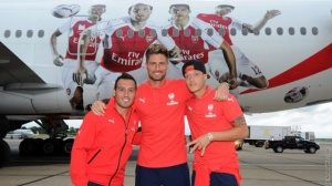 When I fly, the plane also has my likeness on it. (Source: www.arsenal.com)