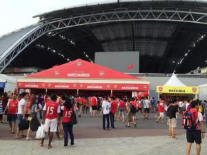 Sale of Arsenal merchandise is brisk. Source: Gavin