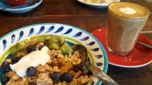 Granola and greek yogurt from The Coffice
