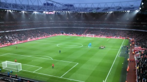 The Emirates in the rain (again)